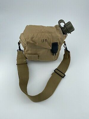 $ CDN24.17 • Buy New 2 QT Collapsible Water Canteen +Used Desert Tan Cover Pouch & Sling US Army