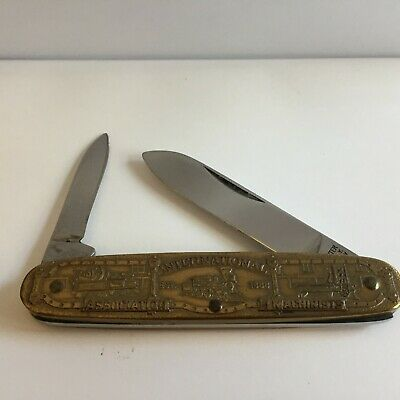 """$47.95 • Buy New In Box RARE IAM Kutmaster Pocket Knife Made In USA Machinists Union 3.5"""""""
