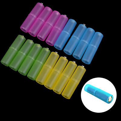 AU4.19 • Buy 4pcs AAA To AA Size Cell Battery Converter Adapter Batteries Holder PlasticDAD