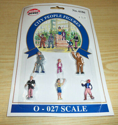 $10.52 • Buy Model Power - City People Figures - 0 - 027 Scale # 6186 Hand Painted - NEW