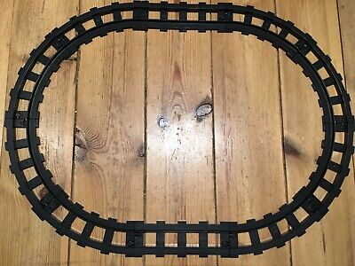 AU22.50 • Buy 10 BLACK DUPLO TRAIN RAILWAY TRACK PIECES STRAIGHT AND CURVED No. 4562 4563 OVAL