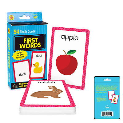 £3.97 • Buy Baby Book First Words Picture Flash Cards Kids Educational Pre School Learning