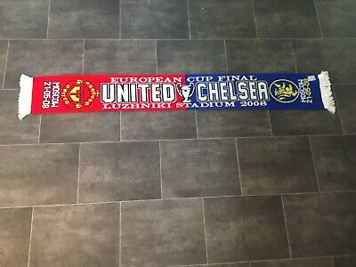 Manchester United V Chelsea Football Scarf - Champions League Final 2008 - New • 17.99£