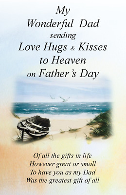 £3.20 • Buy Waterproof Grave Card Memorial Fathers Day FD02