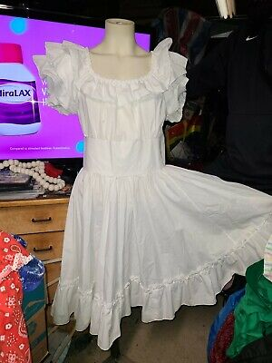 $65 • Buy Square Dance Outfit Skirt Blouse White Ruffles Dress