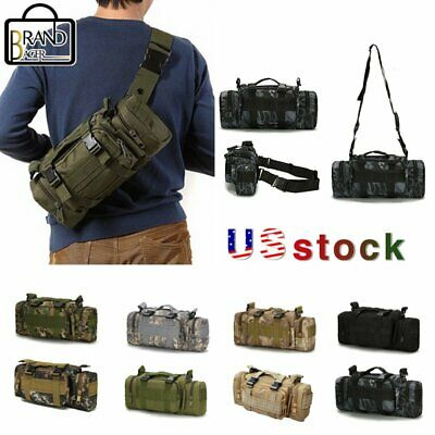 $15.90 • Buy Men's Military Tactical Waist Bag Molle Outdoor Pack Camping Shoulder Chest Bag