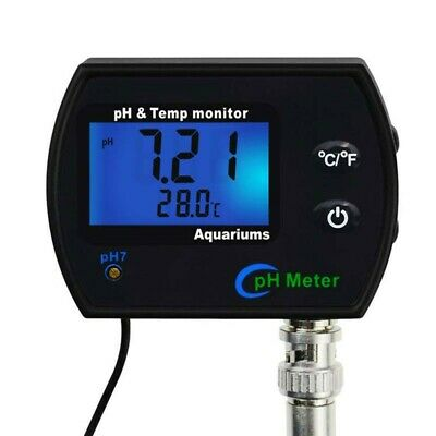 £33.89 • Buy PHM-245 PH Temp Monitor Water Quality Meter W/Backlight For Aquariums Spa