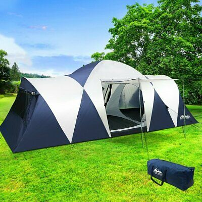 AU158.22 • Buy NEW! Weisshorn Family Camping Tent 12 Person Hiking Beach Tents Canvas (3 Rooms)
