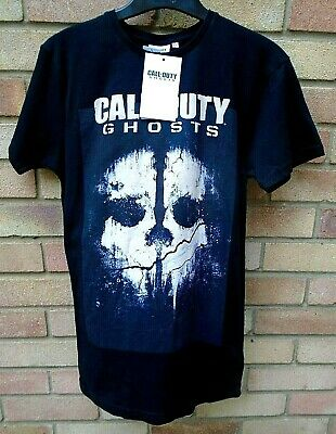 Bnwt: Call Of Duty 'ghosts' Black Cotton Mix T - Shirt Size Uk Xs • 4.95£
