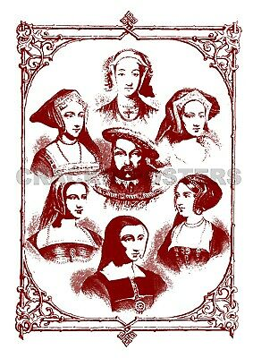 £3.95 • Buy Henry VIII And His Six Wives Vintage Poster. Tudor History.