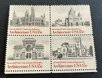 AU1.56 • Buy USA 🇺🇸 1980 American Architecture - 4 Mint Stamps - Michel No. 1445-1448