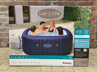 💦 Brand New Lay Z Spa Hawaii 💦 Airjet 6 Person Hot Tub 2021 Model SAME DAY🚚 • 874.99£