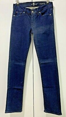 AU34.95 • Buy 7 FOR ALL MANKIND Jeans Womens Size 28 Mid Rise Straight Leg Good Cond FREE POST