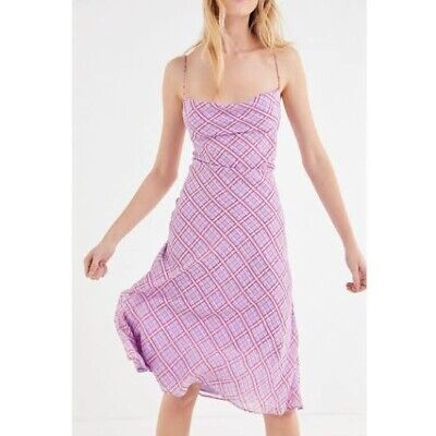 AU50 • Buy Finders Keepers Nostalgia Dress - Lilac Check Size Xs