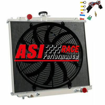 AU264 • Buy 3ROW RADIATOR+16''FAN+Relay For MITSUBISHI MONTERO PAJERO NJ NK NL 2.8L 4M40