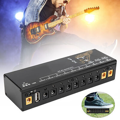 $ CDN47.73 • Buy Pedal Power Supply For Electric Guitar Effect Pedal Board Short Circuit 100-240V