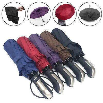 AU22.71 • Buy Compact Umbrella Automatic Fold Windproof Strong Travel Wind Uv Resistance