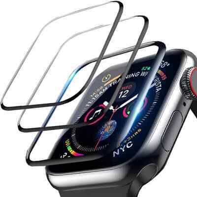 £5 • Buy Apple Watch 4 5 6 Se Series 38 40 42 44 3D Screen Glass Protector Tempered Glass