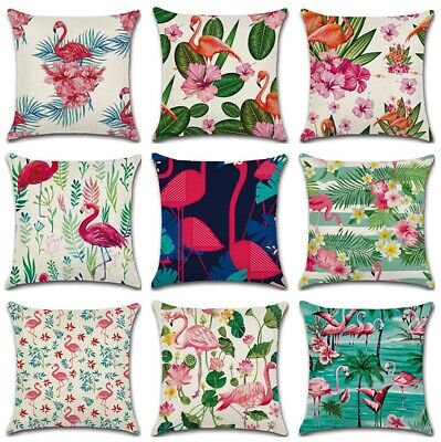 £5.98 • Buy 18  Flamingo Love Pink Outdoor Decorative Pillow Cover Sweet Summer Cushion Case