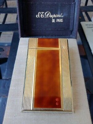 AU799.99 • Buy St Dupont Vintage Lighter ,Gold & Brown Enamel ,Fully Origial Box With Papers.