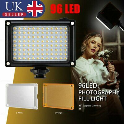 96 LED Video Light Lamp Lighting Shoe For Canon Nikon DSLR Camcorder Camera • 11.90£