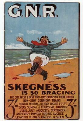 Great Northern Railway Official Postcard. Skegness Is So Bracing By John Hassall • 75£