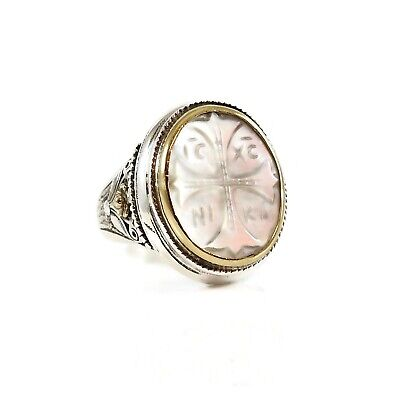 $750 • Buy Konstantino Sterling Silver 18k Yellow Gold Large Mabe Pearl Dare To Love Ring