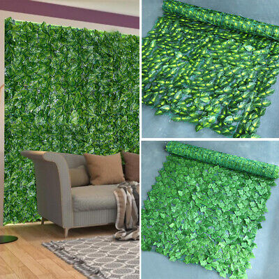 £17.09 • Buy Artificial Ivy Leaf Hedge Garden Screening Fence Fake Plant Wall Outdoor Panels