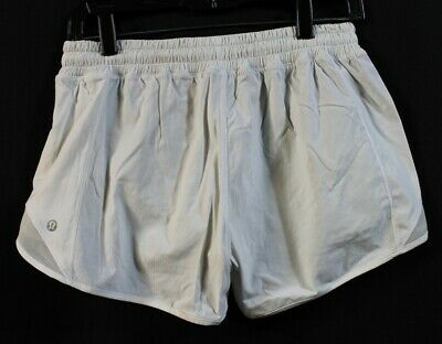"""$ CDN51.47 • Buy Lululemon; Hotty Hot Ii  4"""" Inseam Shorts.  White. Size 8. Excellent Condition!"""