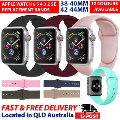 AU5.99 • Buy For Apple Watch Band IWatch Series 65432 Silicone Replacement Strap 38 40 42 44m