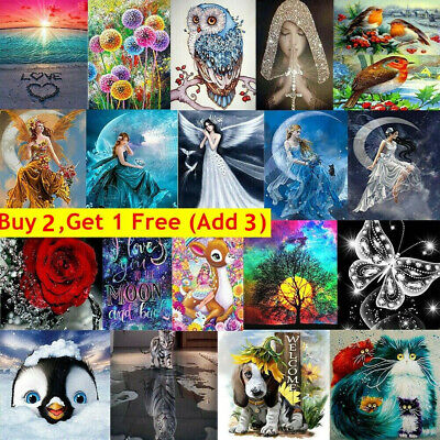 AU12.99 • Buy 5D DIY Full/Round Diamond Painting Embroidery Cross Stitch Home Arts Gift Decor