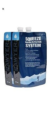 AU30.79 • Buy 2pc 64oz Water Filter System Replacement Pouch Purifier Camping Sawyer Squeeze