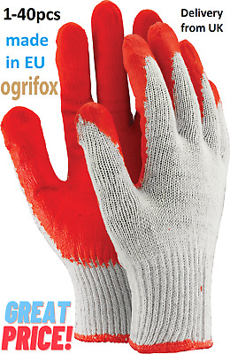 £3.71 • Buy Protective Gloves Coated With Latex Safety Work Gloves Builders Gardening1-40pcs