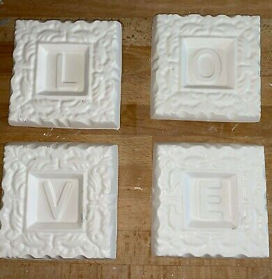 £27.50 • Buy  4 Latex Moulds For Making This Lovely Set Of Wall Plaques