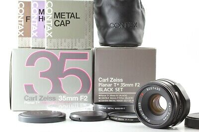 $ CDN1437.26 • Buy [TOP MINT In BOX] Contax Carl Zeiss Planar T* 35mm F/2 Black Lens G1 G2 Japan