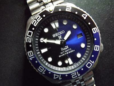 $ CDN172.85 • Buy SEIKO DIVER AUTOMATIC, BLACK/BLUE PADI/PROSPEX, BATMAN GMT Custom 7002-7000 Date