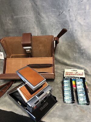 AU322.39 • Buy Vintage Polaroid SX-70 Land Camera With Leather Case And Flashbulbs