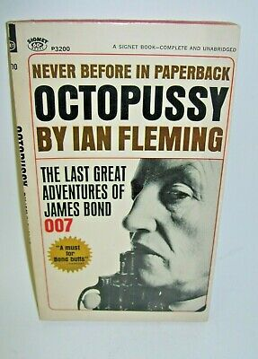 $24.99 • Buy Paperback Book Octopussy By Ian Fleming Last James Bond 007 First Printing 1967