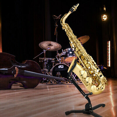 AU56.74 • Buy Home Saxophone Stand Durable Adjustable Black Folding Tripod Holder Accessories