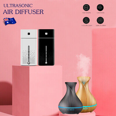 AU15 • Buy 0.55 Or 1L LED Air Humidifier Ultrasonic Mist Ultrasonic Aroma Diffuser Purifier