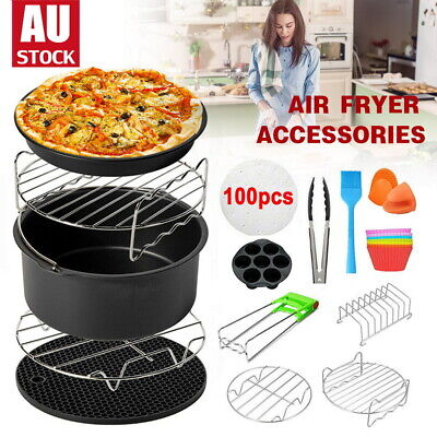 AU23.05 • Buy 8 Inch Air Fryer Accessories Frying Cage Dish Baking Pan Rack Pizza Tray Pot AU