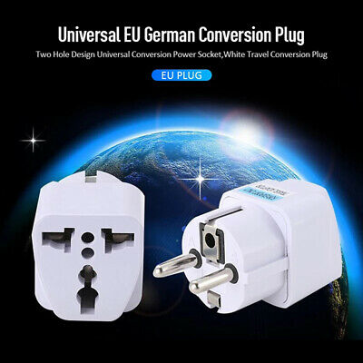 AU3.12 • Buy Universal EU Plug Adapter European Germany Australia Power Socket For TravelWK0