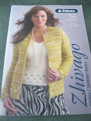 AU5 • Buy Patons: Zhivago: Book No. 1261: 17 Styles: Sizes XXS- XL :Knitted : Preloved