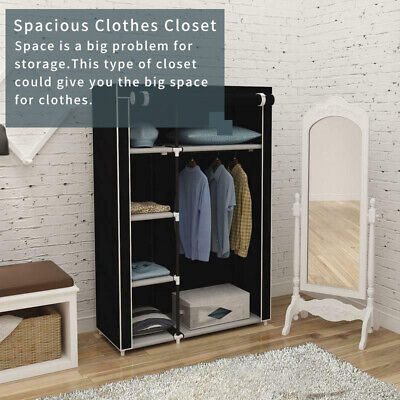 £14.99 • Buy Canvas Material Wardrobe Storage Large Fabric Portable Dust Proof Cover
