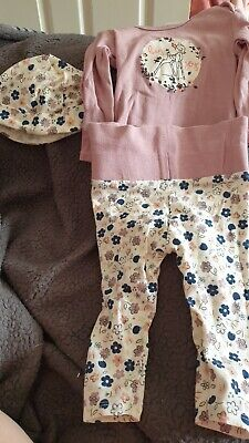£2.50 • Buy Baby Girl Bambi Outfit 3-6 Months Inc Hat