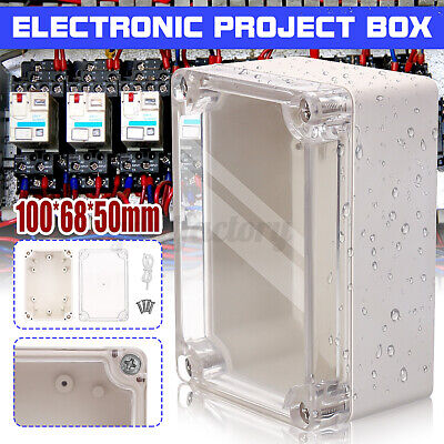 £4.49 • Buy 100x68x50mm Waterproof Cover Clear Electronic Plastic Project Box Enclosure Case