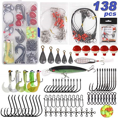 AU54.24 • Buy Saltwater Surf Fishing Tackle Kit -138pcs Leader Rigs Saltwater Lures Spoon Gear