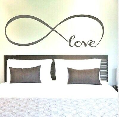 Large Love Wall Stickers Removable Decor Vinyl Art Bed Room Decals Elegant Gifts • 2.36£