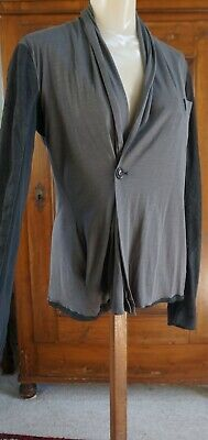 Rick Owens..Italy..A Jersey With Leather Jacket/Blazer! • 105.61£