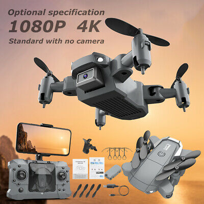 Drone Mini Foldable Quadcopter With 4K HD Camera Wifi FPV Selfie RC Helicopter • 20.99£
